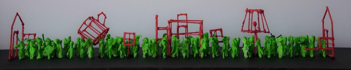 Maquette Triomftocht 'Thuis in de Wijk'