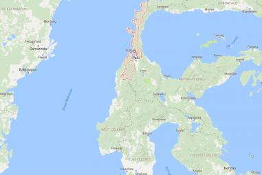 kaart Centraal Sulawesi